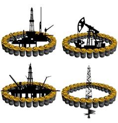 Petroleum business-3 vector image