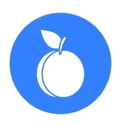 Plum icon black Singe fruit icon vector image