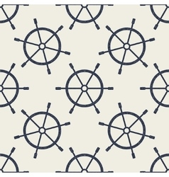 Seamless pattern with hand drawn steering wheels vector image
