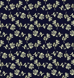 Seamless pattern with vintage roses vector image vector image