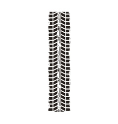 tire tracks mark isolated icon vector image