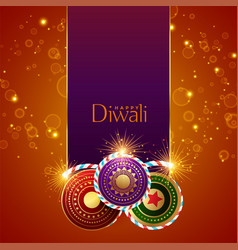 Abstract diwali festival sparkles background with vector