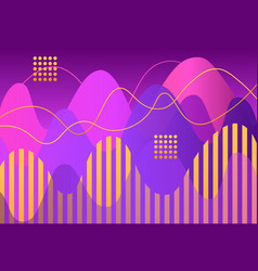 abstract geometric shapes and lines on purple vector image