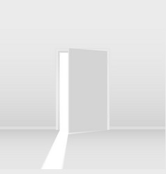 abstract open door on white background for vector image