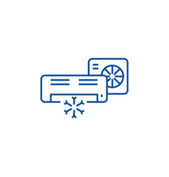 air conditionersplit system line icon concept vector image