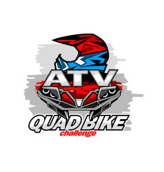 Atv quad bike challenge logo vector