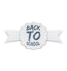 Back to School Banner with white Ribbon vector