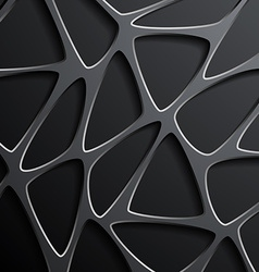 Background of a mesh with triangular cells vector