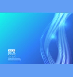 blue color waves liquid abstract background vector image