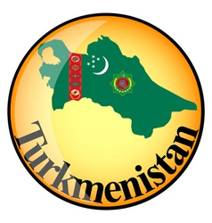 button Turkmenistan vector image