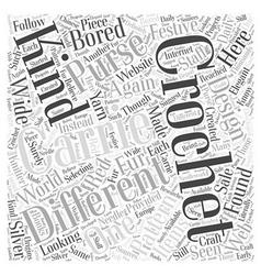 carrie crochet Word Cloud Concept vector image
