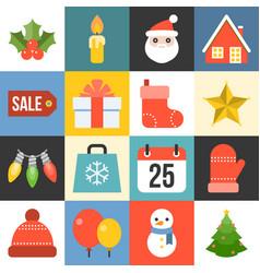 christmas icon set 1 vector image