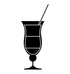 Cocktail drink traditional brazil pictogram vector