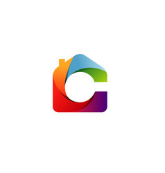 color home logo vector image