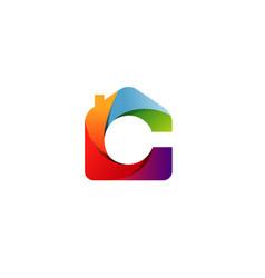 color home logo vector image