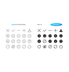 control ui pixel perfect well-crafted thin vector image