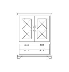 cupboard cabinet vector image