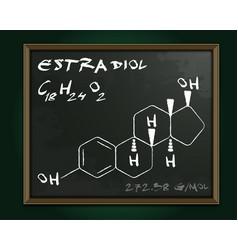 Estradiol molecule image vector