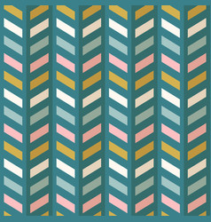 fashion abstract chevron pattern seamless fabric vector image