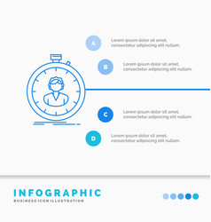 Fast speed stopwatch timer girl infographics vector