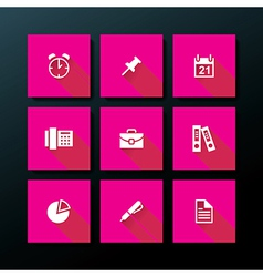 flat office icon set vector image