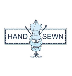 hand sewing vector image