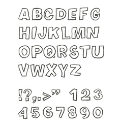handwritten sans serif abc vector image