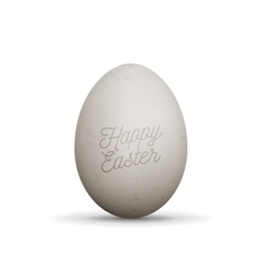 Happy Easter realistic Egg with Shadows vector