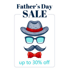 happy father s day sale offer elegant poster with vector image