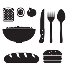 healthy breakfast icon set vector image