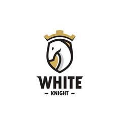 Horse shield e sport logo icon vector