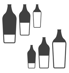 icons filling bottles with liquid two variants of vector image