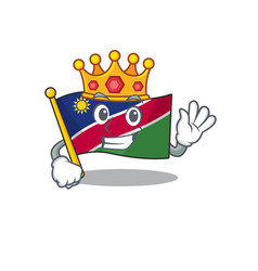 King flag namibia isolated in character vector