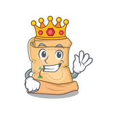 King treasure map isolated with cartoon vector