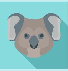 koala head icon flat style vector image