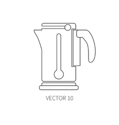 Line flat kitchenware icons - electric vector