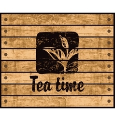 logo of the tea time vector image