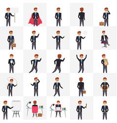 Managers in different poses icons vector