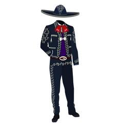 Mariachi musician costume vector