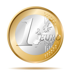 One euro coin 1 vector