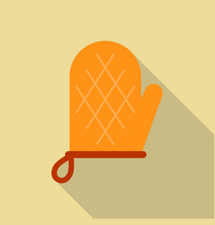 Oven glove icon flat style vector