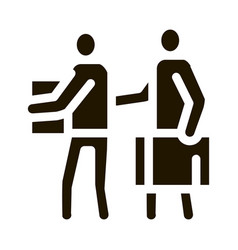 people with luggage icon glyph vector image