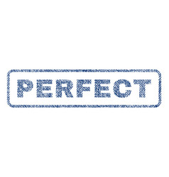 Perfect textile stamp vector