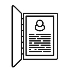 Personal information form icon outline style vector