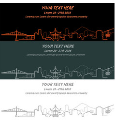 Portland event banner hand drawn skyline vector