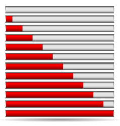 Progress or loading bars vector