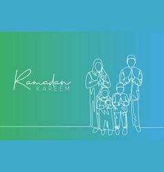 ramadan kareem greeting card poster and banner vector image