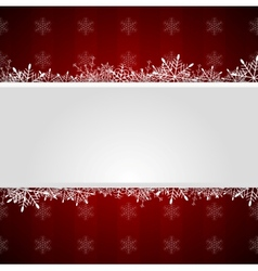 Red Christmas greeting background vector image