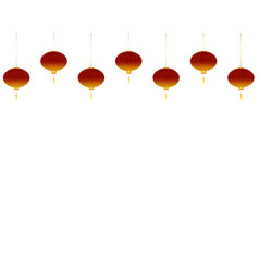 red lanterns on white background vector image