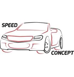 roadster vector image